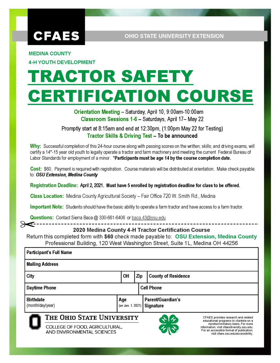 Tractor Safety Certification Form