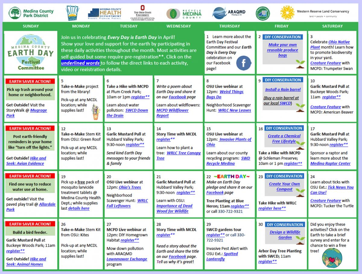 click this image to access an interactive pdf calendar with active links