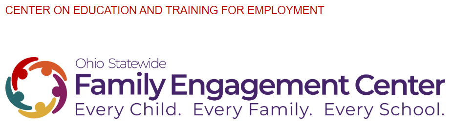 Ohio Statewide Family Engagement Center Every Child. Every Family. Every School.