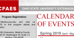 Cover of the quarterly event calendar